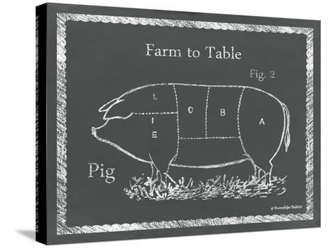 Sectioned Pig-Gwendolyn Babbitt-Stretched Canvas Print