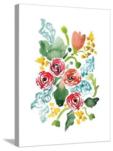 Red Floral Array II-Sara Berrenson-Stretched Canvas Print