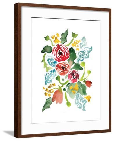 Red Floral Array I-Sara Berrenson-Framed Art Print