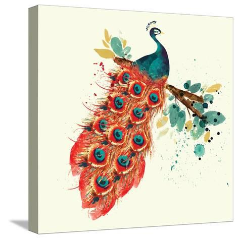 Peacock I-Sara Berrenson-Stretched Canvas Print