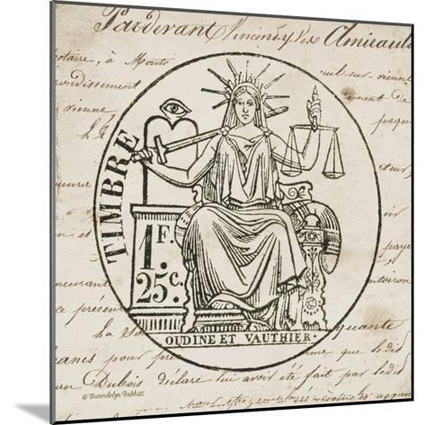 French Stamp II-Gwendolyn Babbitt-Mounted Art Print