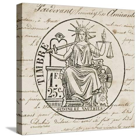 French Stamp II-Gwendolyn Babbitt-Stretched Canvas Print
