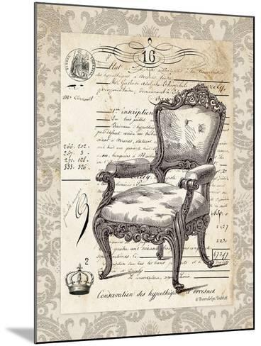 French Chair II-Gwendolyn Babbitt-Mounted Art Print