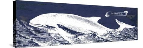 Indigo Whale II-Gwendolyn Babbitt-Stretched Canvas Print