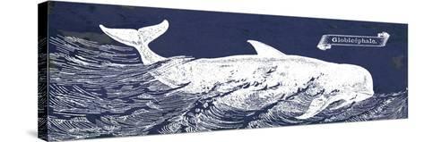 Indigo Whale I-Gwendolyn Babbitt-Stretched Canvas Print