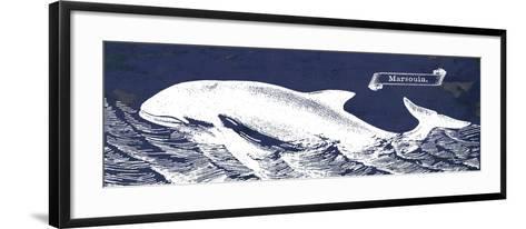 Indigo Whale II-Gwendolyn Babbitt-Framed Art Print
