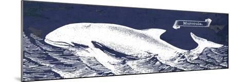 Indigo Whale II-Gwendolyn Babbitt-Mounted Art Print