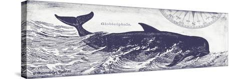 Whale on Cream I-Gwendolyn Babbitt-Stretched Canvas Print