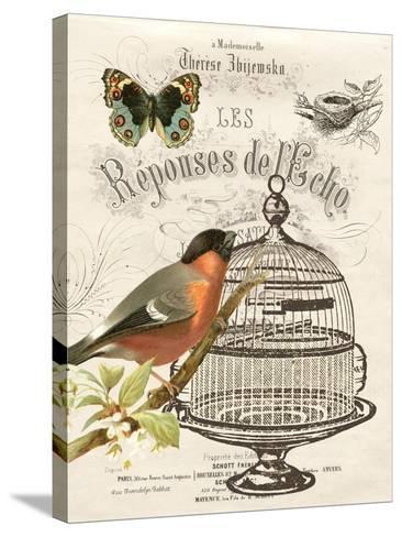 Music Bird I-Gwendolyn Babbitt-Stretched Canvas Print