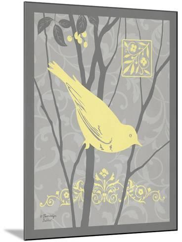 Grey & Yellow Bird II-Gwendolyn Babbitt-Mounted Art Print