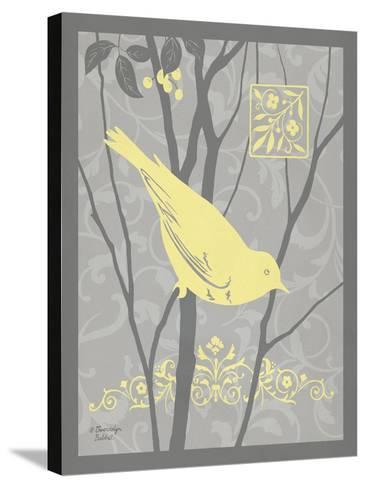 Grey & Yellow Bird II-Gwendolyn Babbitt-Stretched Canvas Print