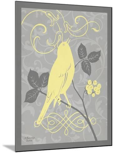Grey & Yellow Bird III-Gwendolyn Babbitt-Mounted Art Print