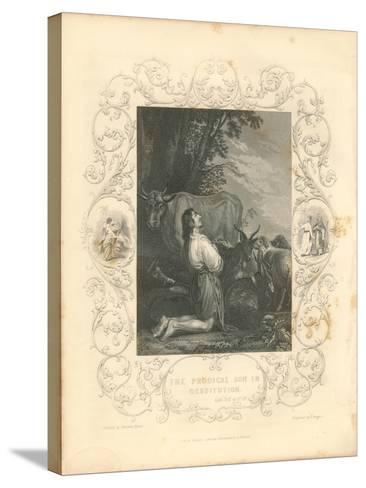 Faith Engraving III-Gwendolyn Babbitt-Stretched Canvas Print