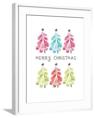 Christmas Trees-Sara Berrenson-Framed Art Print