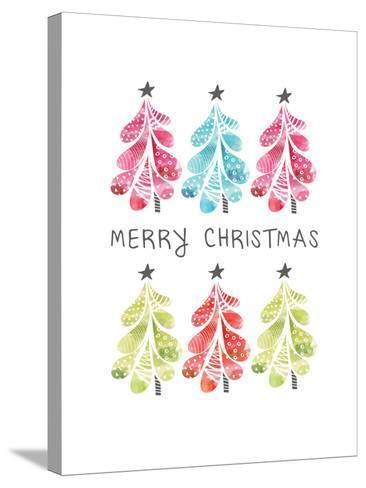 Christmas Trees-Sara Berrenson-Stretched Canvas Print