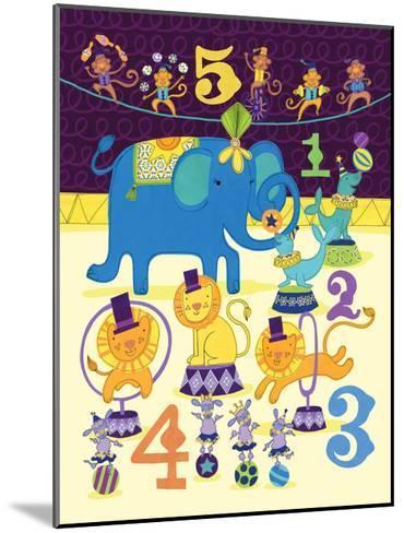 Circus Counting-Jane Smith-Mounted Art Print