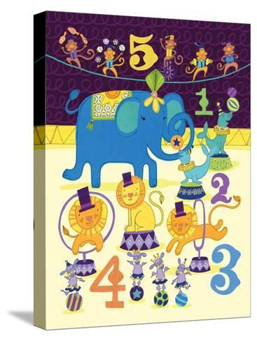 Circus Counting-Jane Smith-Stretched Canvas Print