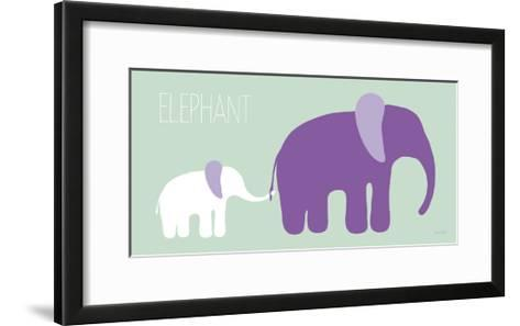 Purple Zoo VI-Kris Ruff-Framed Art Print