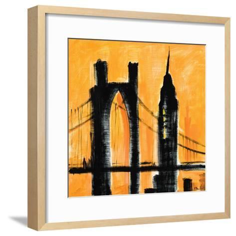 Amber Cityscape-Paul Brent-Framed Art Print