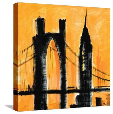 Amber Cityscape-Paul Brent-Stretched Canvas Print