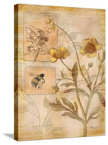 Flora Bumble Bee-Paul Brent-Stretched Canvas Print