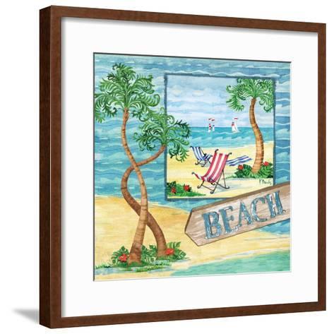 Whimsy Bay Collage II-Paul Brent-Framed Art Print