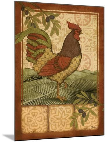 Tuscan Rooster II-Paul Brent-Mounted Art Print