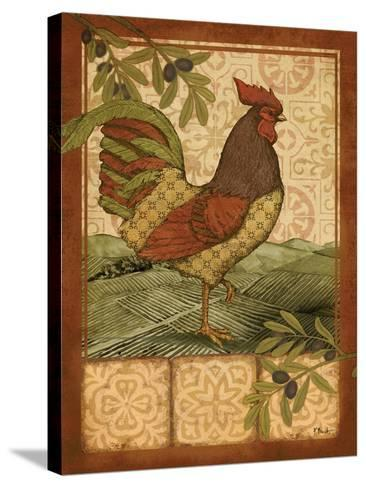 Tuscan Rooster II-Paul Brent-Stretched Canvas Print