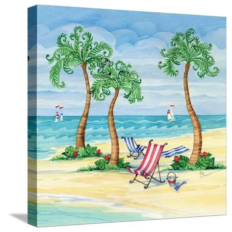 Whimsy Bay Chairs II-Paul Brent-Stretched Canvas Print