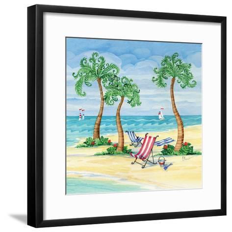 Whimsy Bay Chairs II-Paul Brent-Framed Art Print