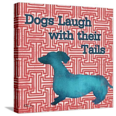 Patterned Pets Dog IV-Paul Brent-Stretched Canvas Print