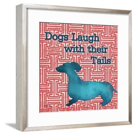 Patterned Pets Dog IV-Paul Brent-Framed Art Print