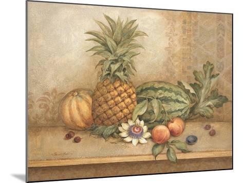 Pineapple and Passion Flower-Pamela Gladding-Mounted Art Print