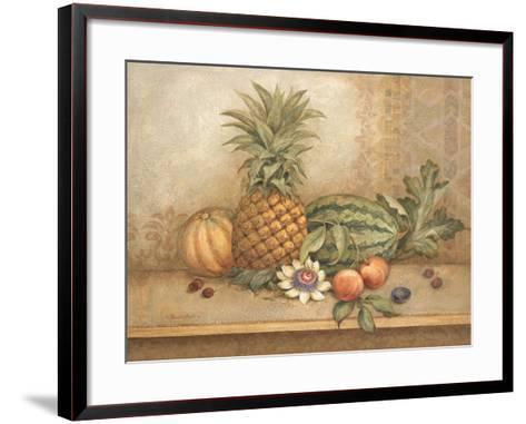 Pineapple and Passion Flower-Pamela Gladding-Framed Art Print