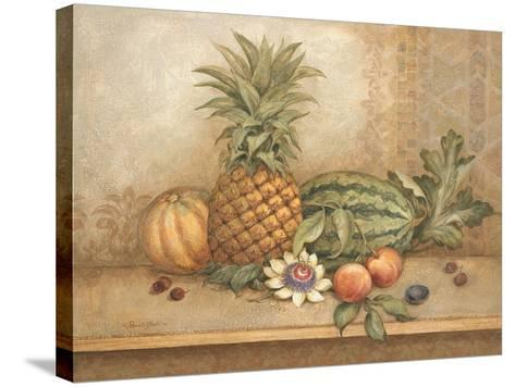 Pineapple and Passion Flower-Pamela Gladding-Stretched Canvas Print