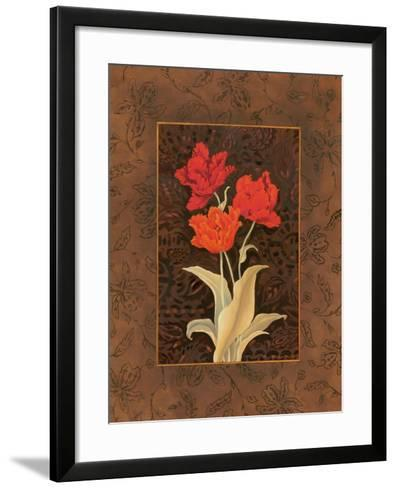 Damask Tulip-Paul Brent-Framed Art Print