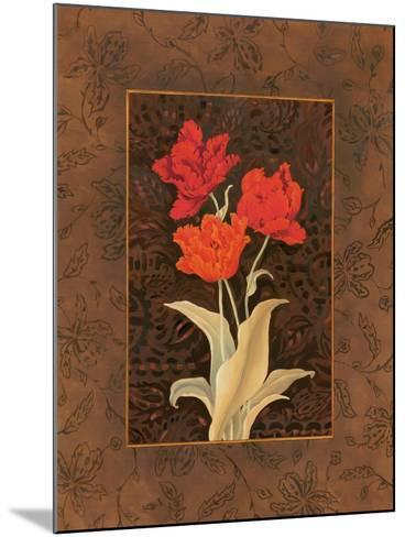 Damask Tulip-Paul Brent-Mounted Art Print