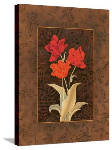 Damask Tulip-Paul Brent-Stretched Canvas Print