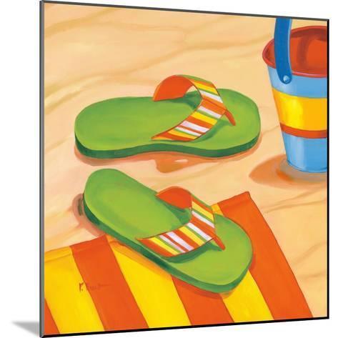 Green Flip Flops-Paul Brent-Mounted Art Print