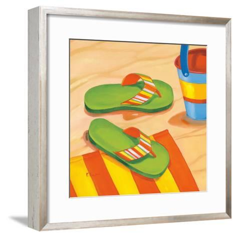 Green Flip Flops-Paul Brent-Framed Art Print