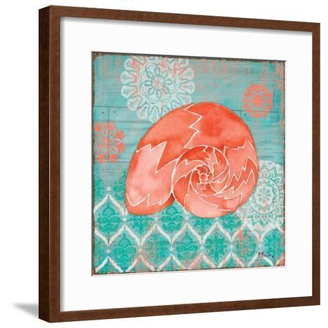 Coral Cove Shells III-Paul Brent-Framed Art Print