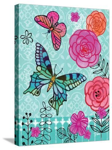 Butterfly Garden II-Teresa Woo-Stretched Canvas Print