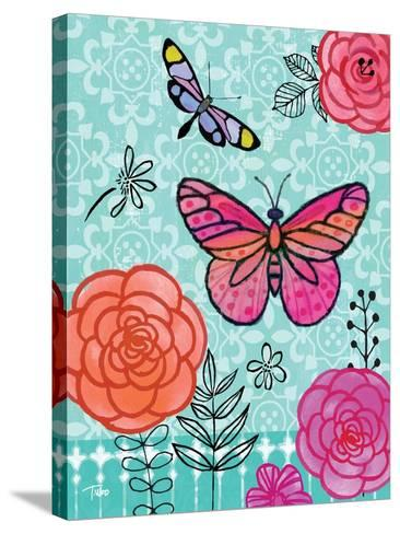 Butterfly Garden I-Teresa Woo-Stretched Canvas Print