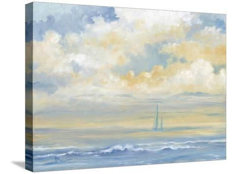 Misty Morning Sail-Paul Brent-Stretched Canvas Print