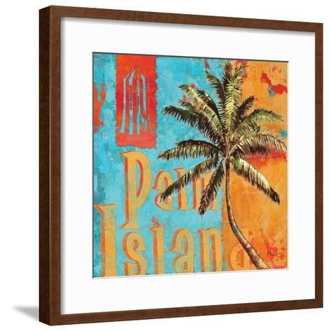 Rojo Palm II-Paul Brent-Framed Art Print