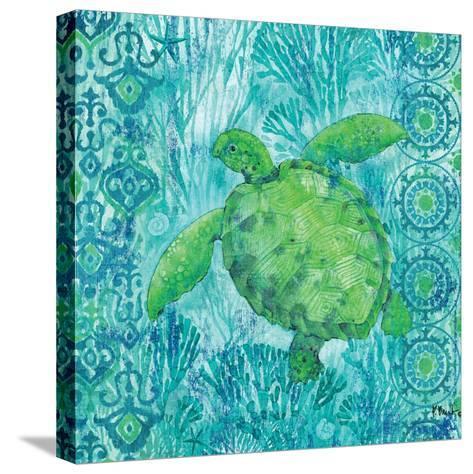 Turtle Batik Sq-Paul Brent-Stretched Canvas Print