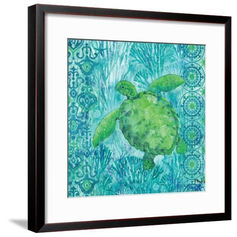 Turtle Batik Sq-Paul Brent-Framed Art Print