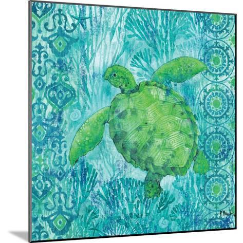 Turtle Batik Sq-Paul Brent-Mounted Art Print
