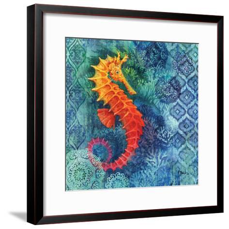 Seahorse Batik Sq-Paul Brent-Framed Art Print