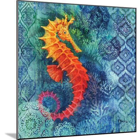 Seahorse Batik Sq-Paul Brent-Mounted Art Print